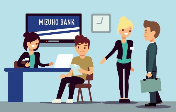 みずほ銀行様内の専用受付窓口への紹